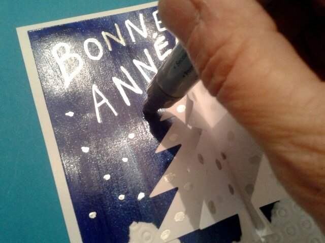 152_Noël et Nouvel an_ Carte Blanc Bleu Argent (36)