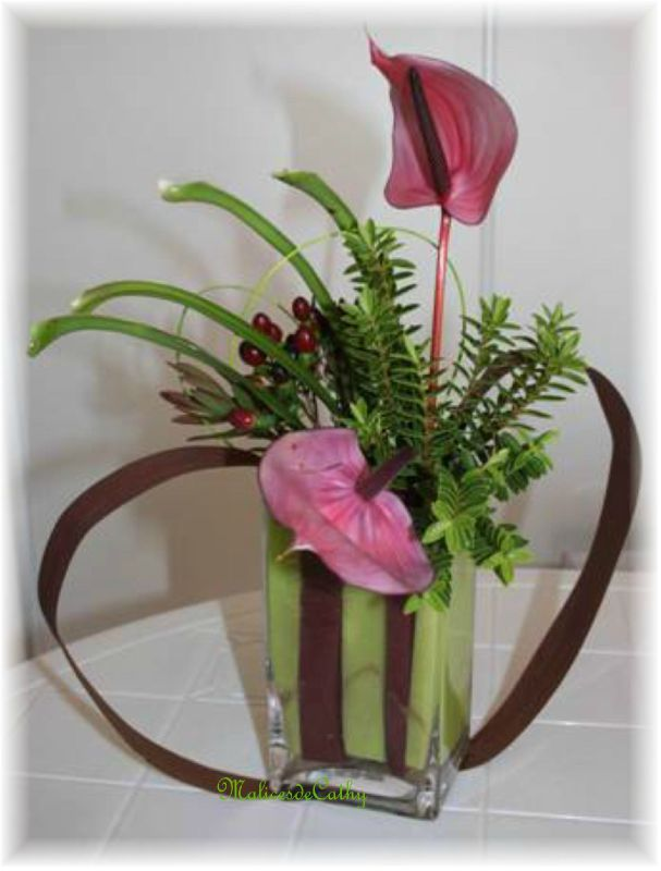 Composition saint valentin les malices de cathy for Comcomposition florale saint valentin