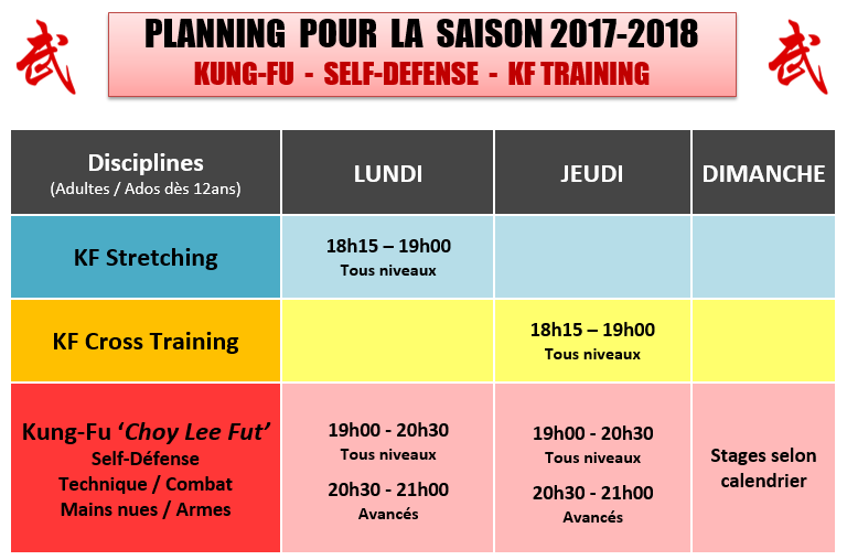 PLANNING KCL 2017-18
