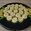 Mini-mousses de courgettes au saumon fumé