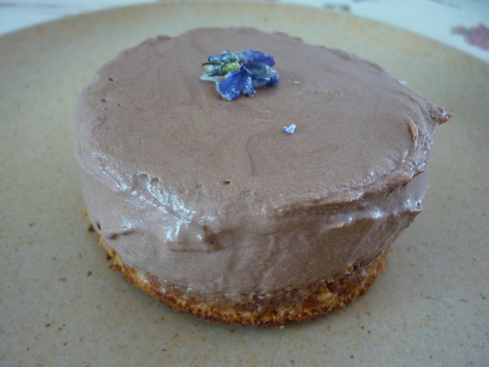 Petit gâteau pain d'épice et mousse au chocolat