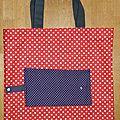 08. sac pliable rouge et violet - ouvert