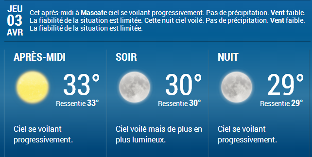 METEO MASCATE