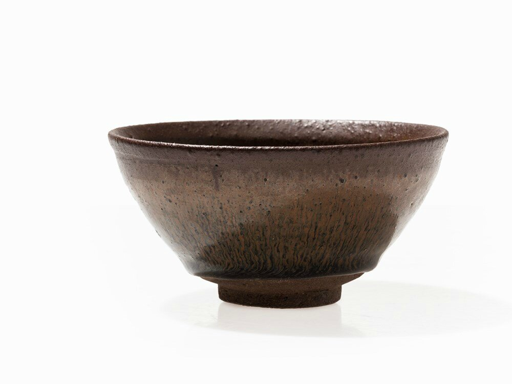 Jianyao Teabowl with 'Hare's Fur Glaze', Song Dynasty