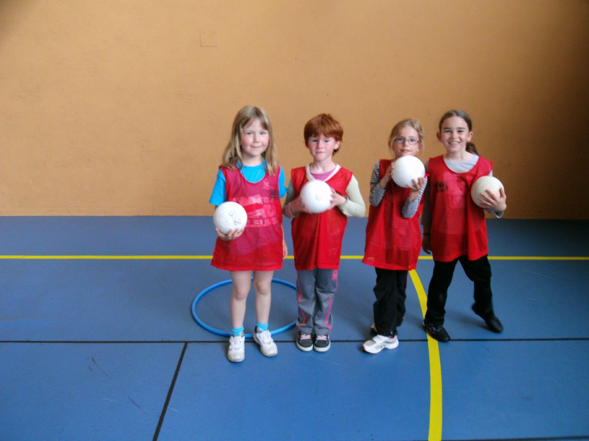 L'équipe des filles en rouge