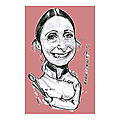 Anne-Sophie PIC caricature Chef Cuisinier