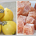 Pâte de coings - ou pâte de fruits d'or - nature ou au citron
