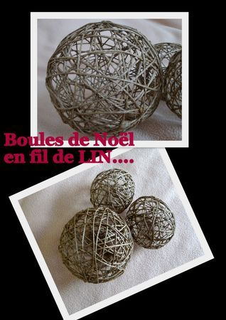 tuto boule de no l en fil couture co. Black Bedroom Furniture Sets. Home Design Ideas