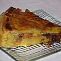 Galette frangipane, chocolat, poires