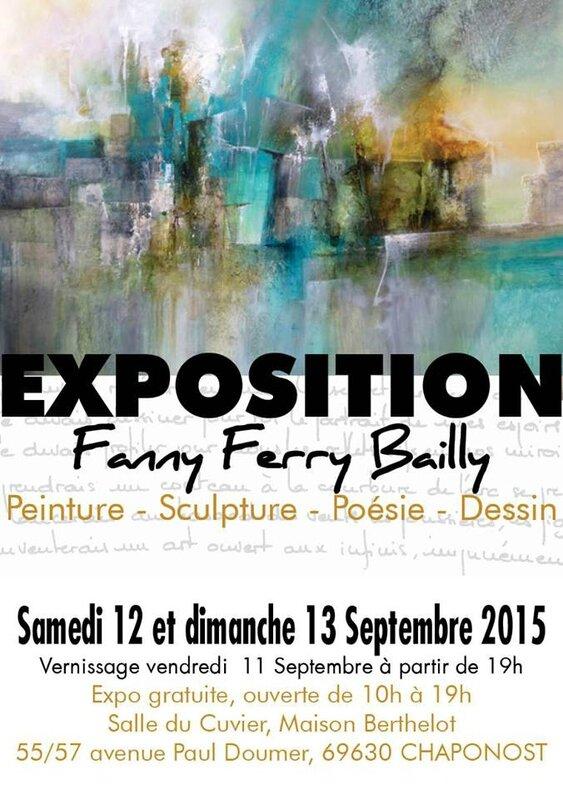 Exposition des œuvres de Fanny Ferry Bailly - 12-13 septembre 2015