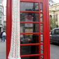 My crochet scarf in london
