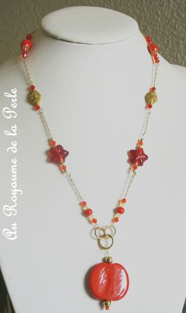 Collier Fire plaqué ora
