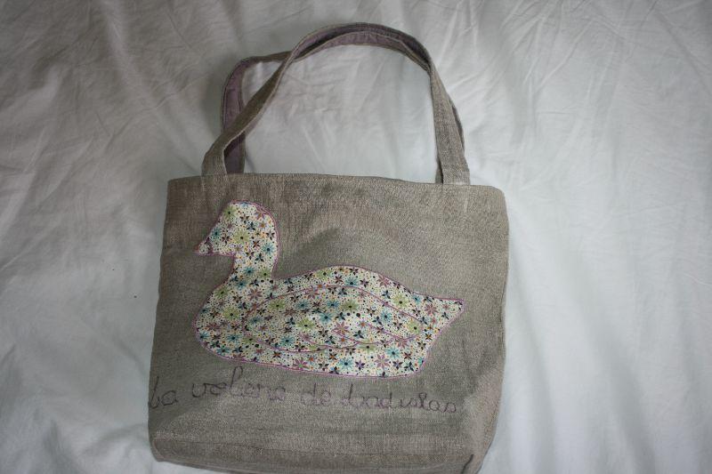 sac canard, avec maman canard et 2 petits, 40€
