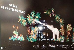 14 Paris la nuit, chroniques nocturnes - Pavillon de l'Arenal, Paris, illumination du BHV, 1929, Léon Gimpel