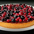 Tarte chocolat aux fruits rouges