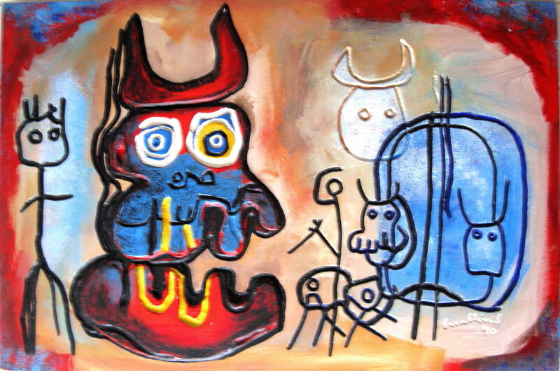 GUALLINO Mythologie contemporaine 1990 81 x 122
