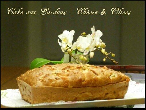 """ღ """" Miam """" Cake lardons - Chèvre et Olives"""