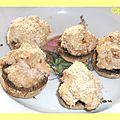 Champignons farcie aux deux jambon et kiri