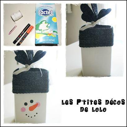 Fabulous DIY : faire un bonhomme de neige avec un rouleau de papier  WG67
