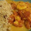 Crevettes au curcuma et quinoa