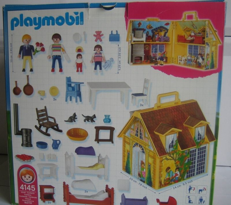 playmobil maison transportable. Black Bedroom Furniture Sets. Home Design Ideas