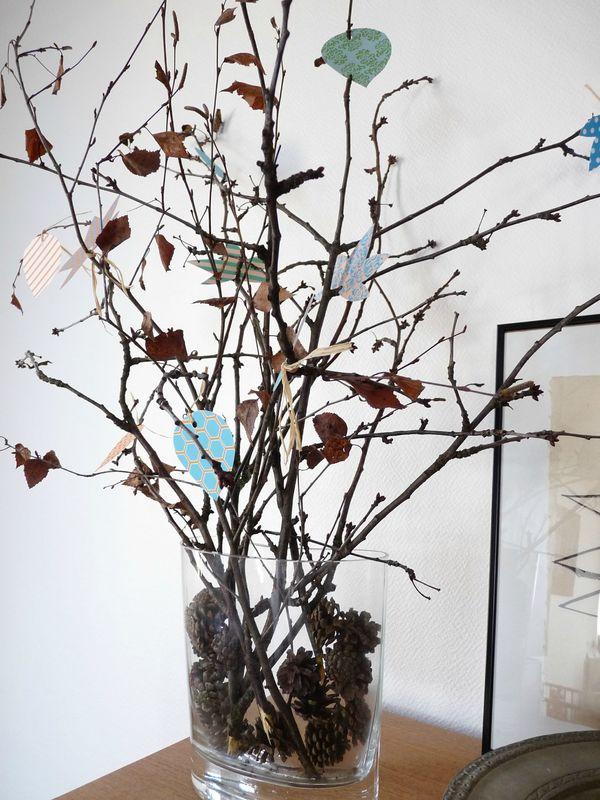 un bouquet de branches et de feuilles en pitimana le blog. Black Bedroom Furniture Sets. Home Design Ideas