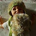 bonnet et écharpe bébé modèle COROLLE taille 3 mois prix 15€