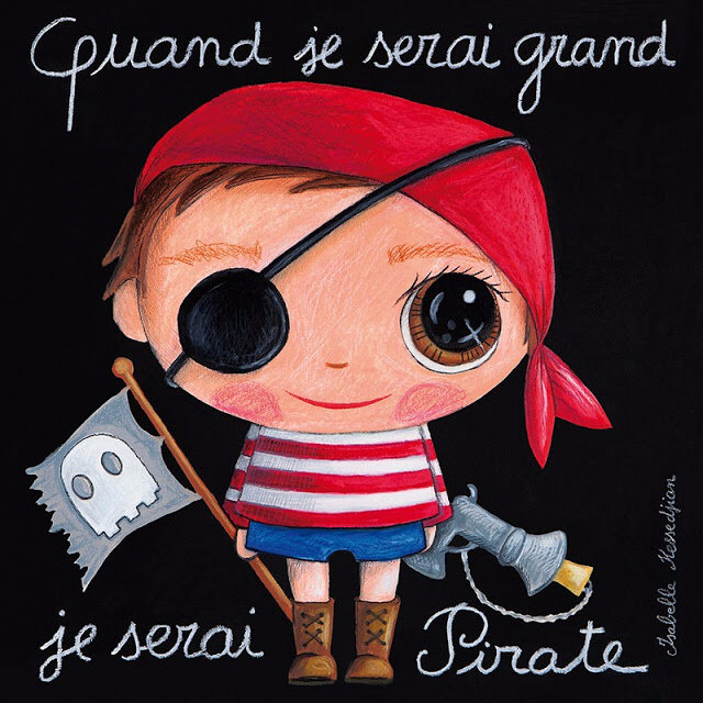 tableau-garcon-quand-je-serai-grand-je-serai-pirate-by-isabelle-kessedjian-18a