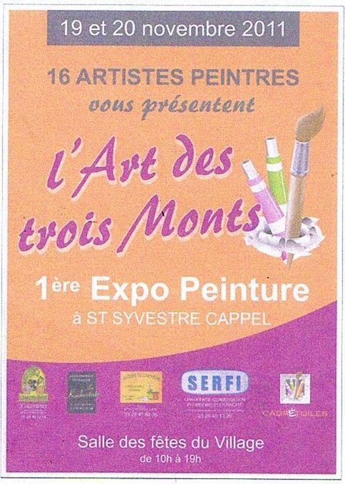 Affiche exposition peintures
