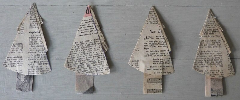 Christmas Tree papier ancien (5a)