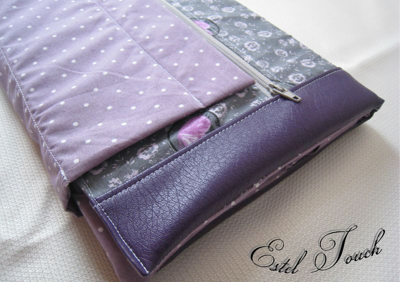 housse tablette violet3