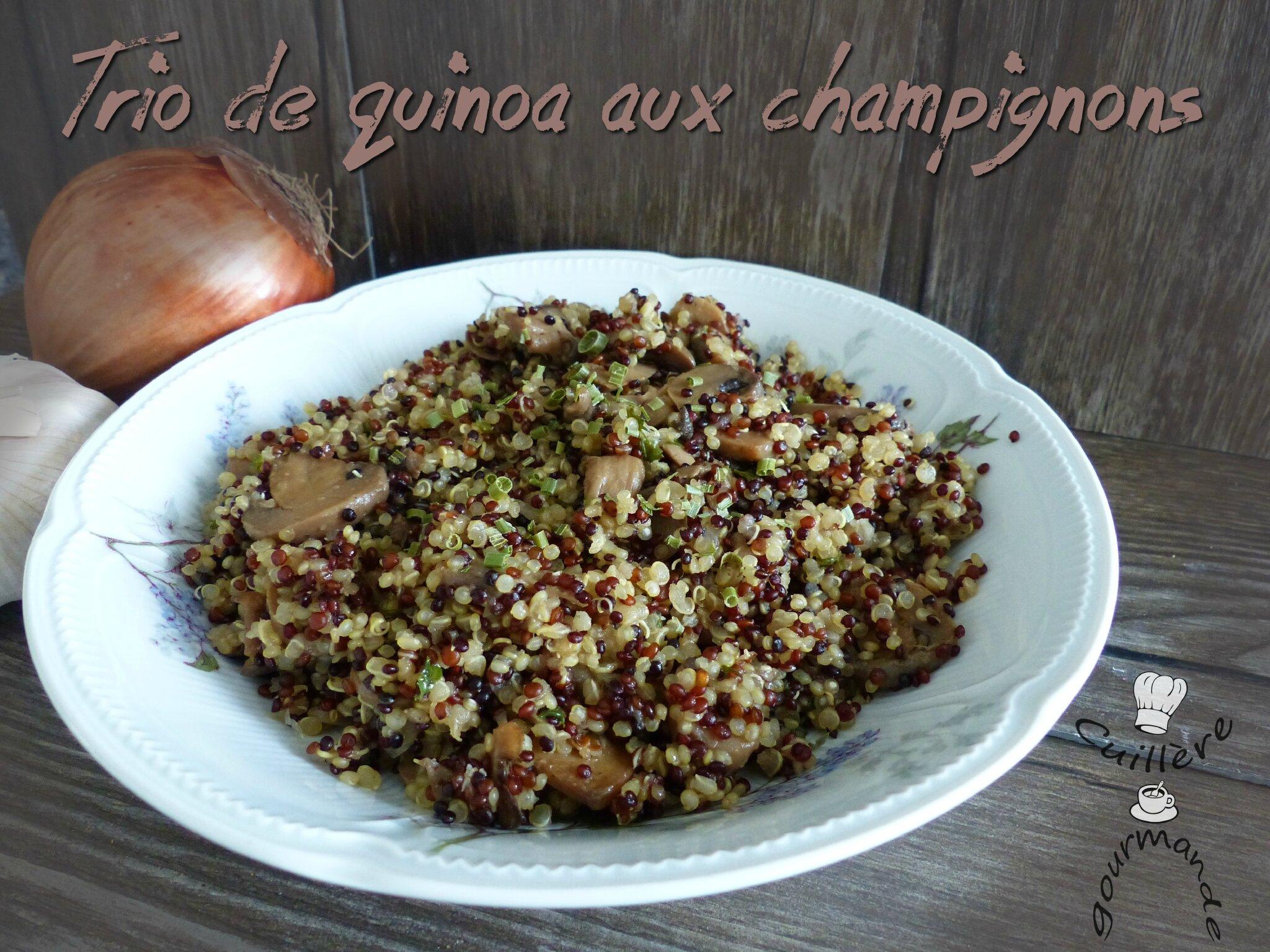 Trio de quinoa aux champignons
