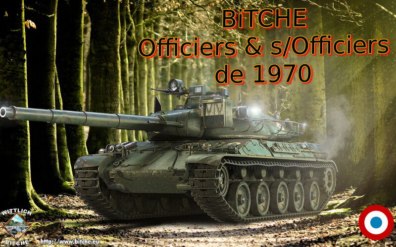 BiTCHE OFFiCiERS sous OFFiCiERS de 1970