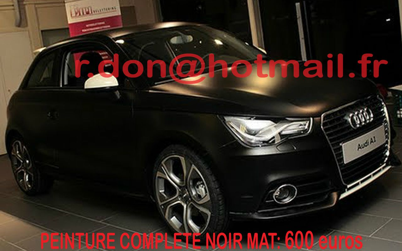 audi a1 covering noir mat. Black Bedroom Furniture Sets. Home Design Ideas