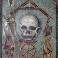 Memento mori, mosaque polychrome de Pompi, Ier sicle, Muse national d'archologie de Naples  Archives surintendance spciale Beni et archologici Naples et Pompei