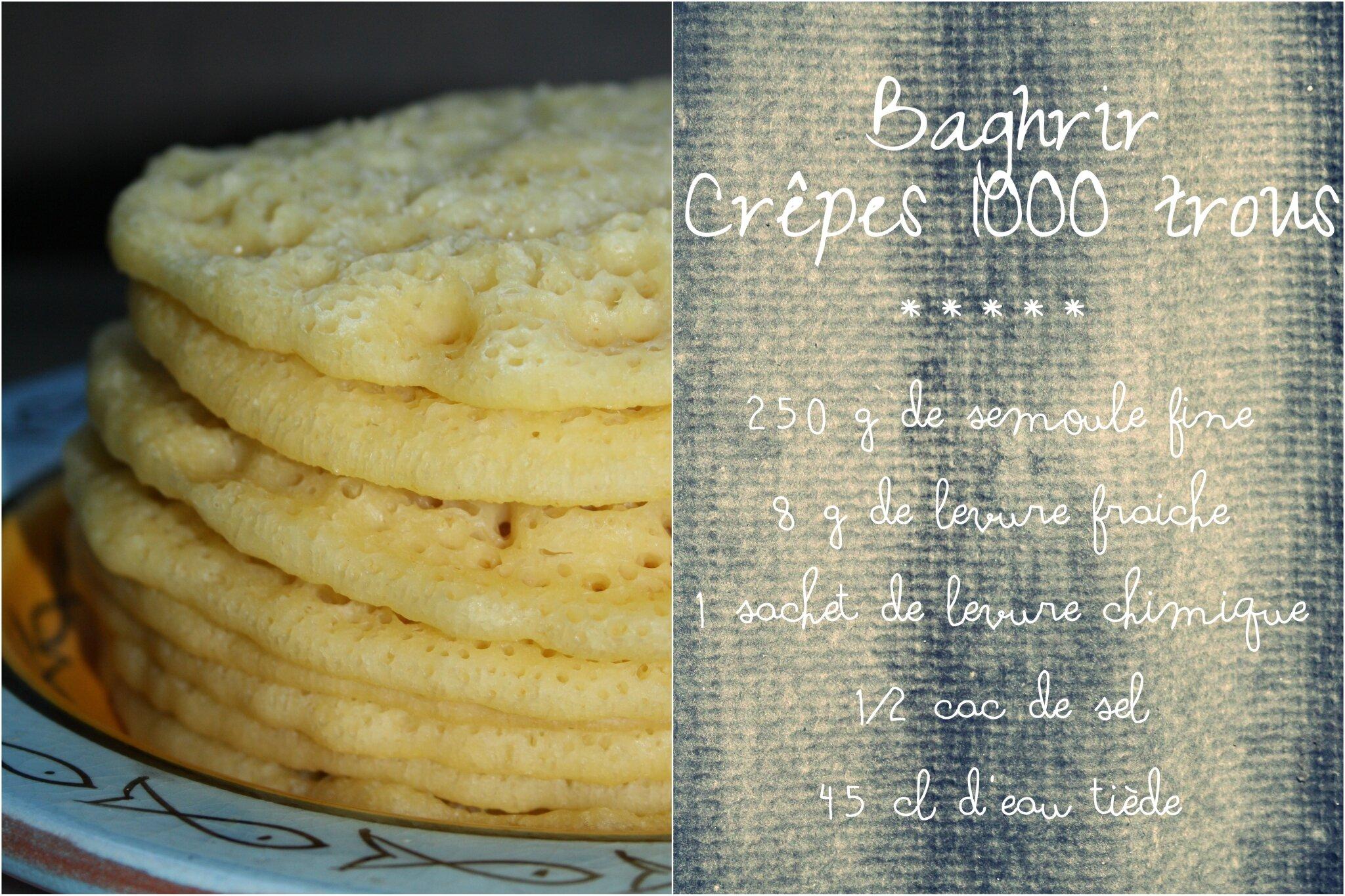 Baghrir ou cr pes 1000 trous les 5 sens en cuisine - Comment faire les crepes ...