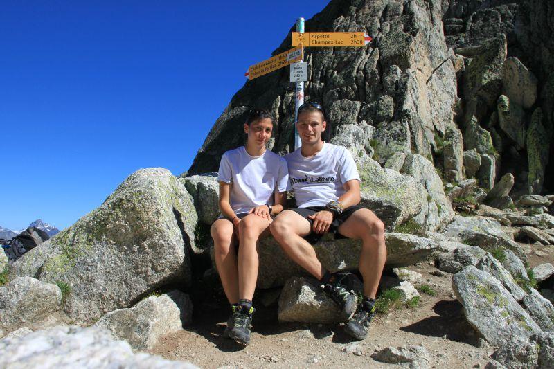 Tmb 2011 champex lac col de la balme 2191m trek for Fenetre d arpette