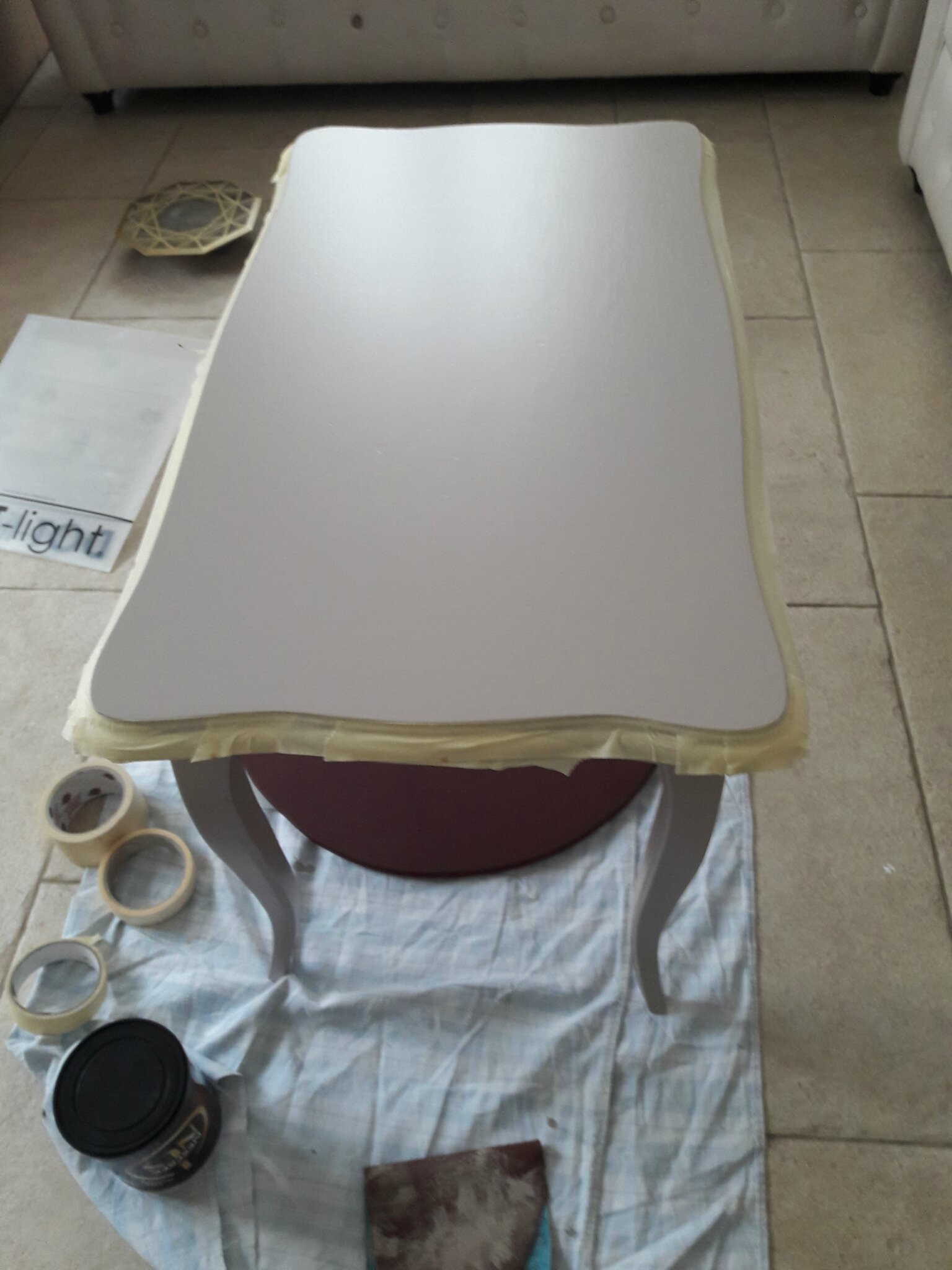 Une table basse tr s chic diy relooking mobilier for Creer une table de jardin