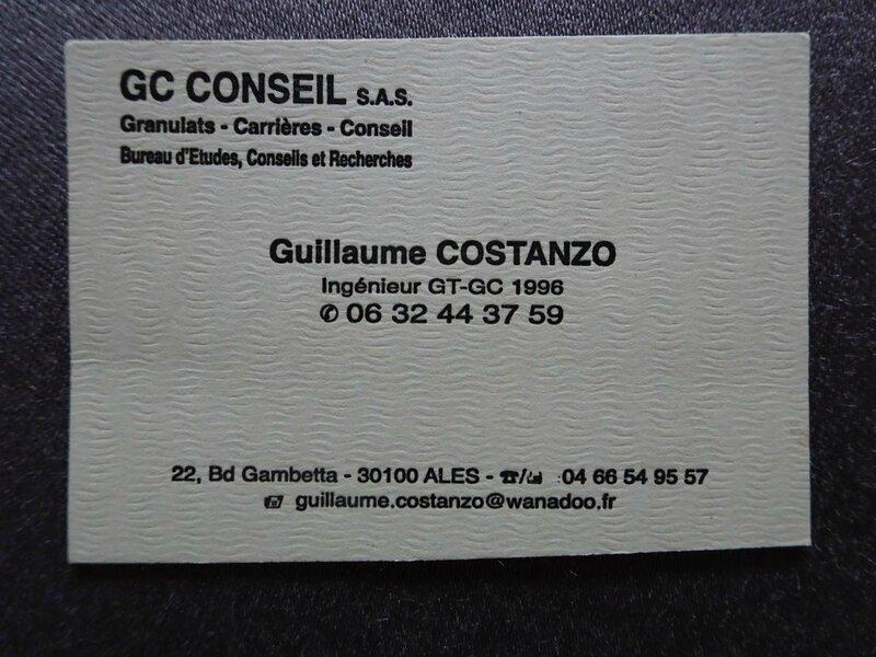 Carte Costanzo pour les riverains de carrières