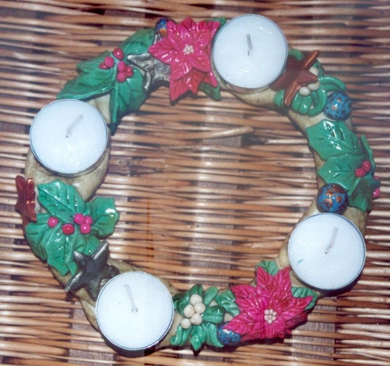 Pate a sel noel decoration great objets en pte sel avec - Pate a sel noel decoration ...