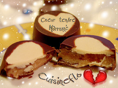 Chocolat maison Cœur tendre marronné de Cuisineflo