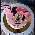 Gateau minnie (rose )
