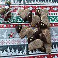 Sablés de noël chocolat - noisette