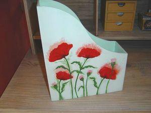 Boîte courrier coquelicots