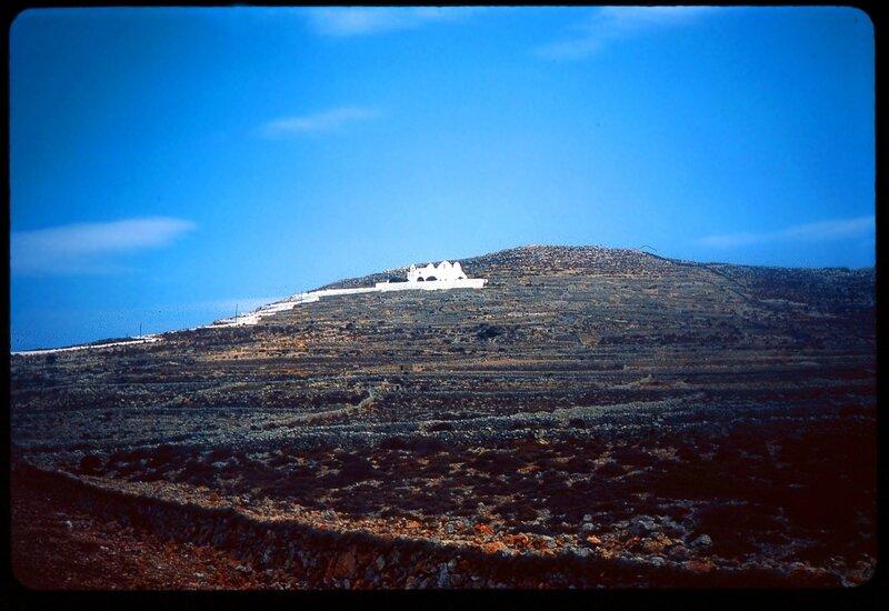 paysage colline grece cyclades