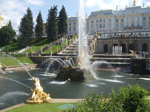 jet d 39 eau jardin peterhof castle photo de saint. Black Bedroom Furniture Sets. Home Design Ideas
