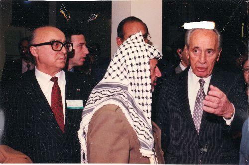 Yasser Arafat et Shimon Perez