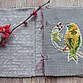 Carnet textile, page 1