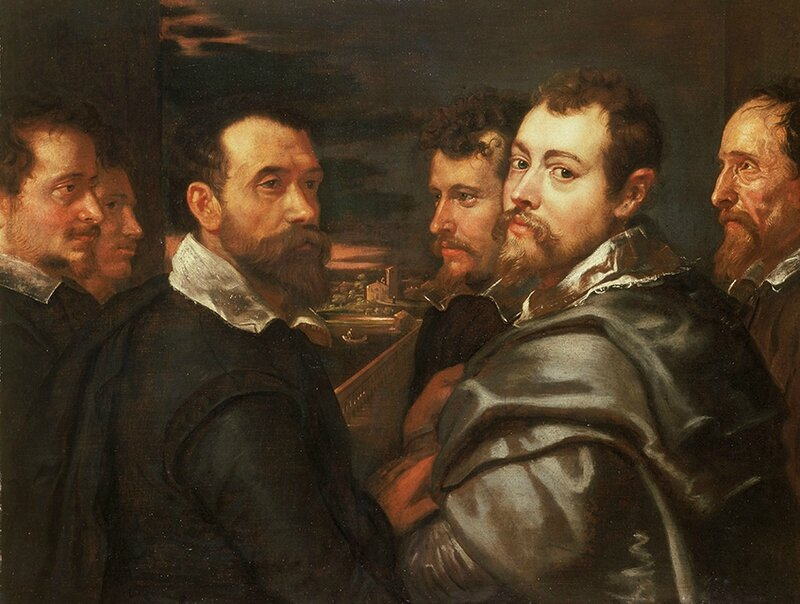 Peter Paul Rubens, 'Self-portrait in a Circle of Friends from Mantua', approx