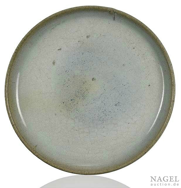 A Junyao flat dish, China, Yuan dynasty